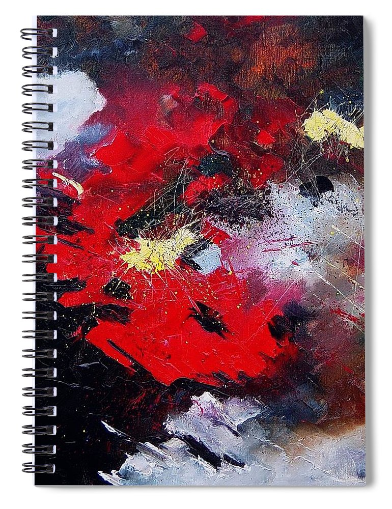 Abstract Spiral Notebook featuring the painting Abstract070406 by Pol Ledent