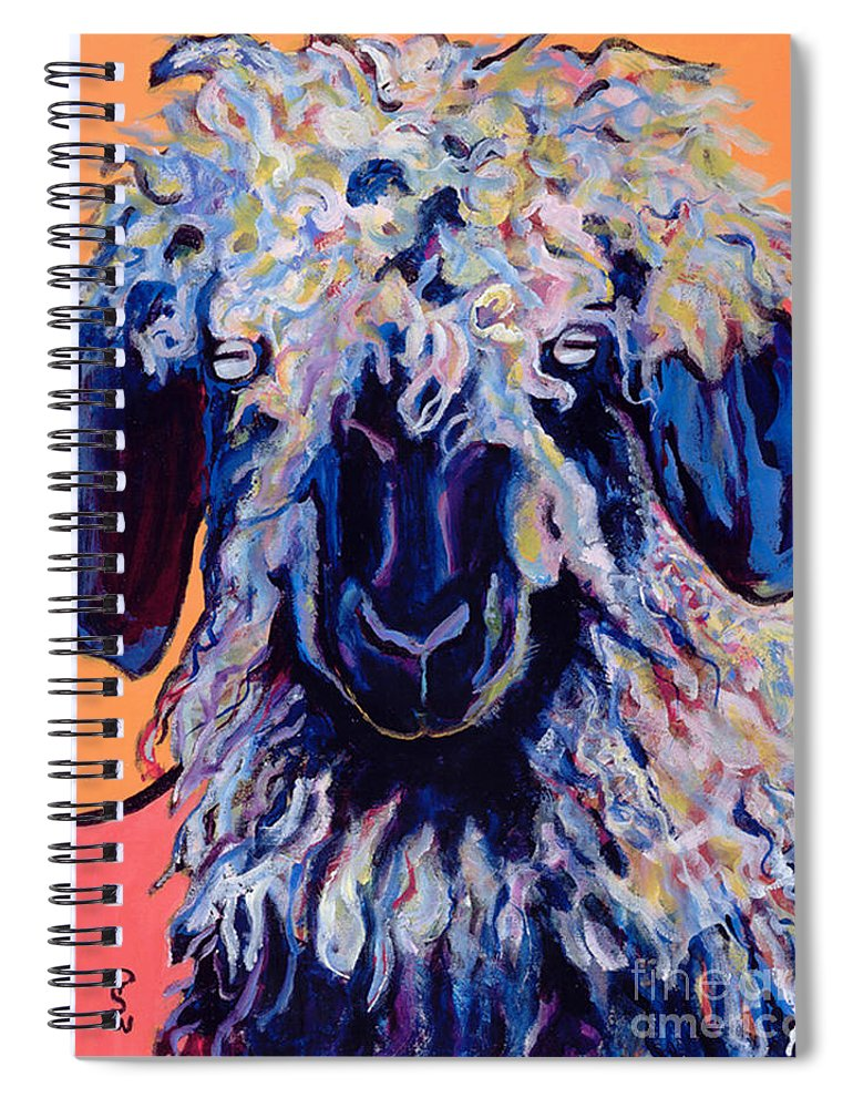 Goat Print Spiral Notebook featuring the painting Adelita  by Pat Saunders-White