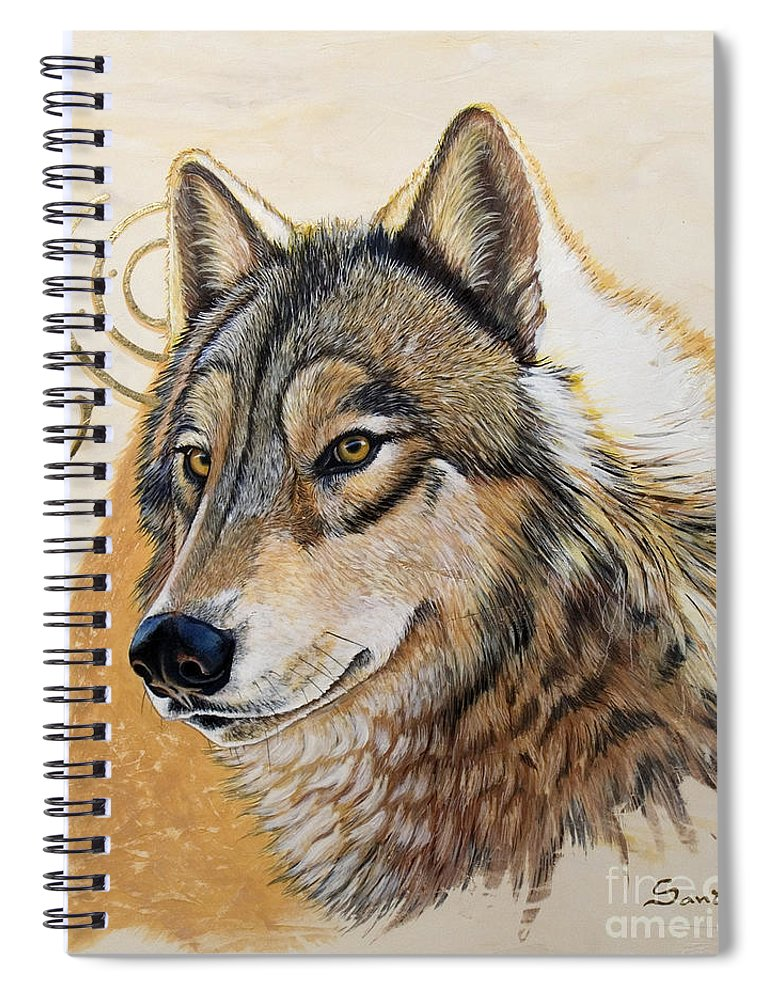 Acrylics Spiral Notebook featuring the painting Adobe Gold by Sandi Baker
