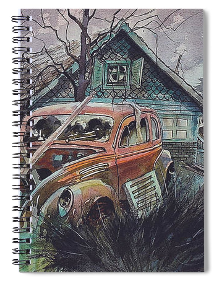 Ford Spiral Notebook featuring the painting Affordable by Ron Morrison