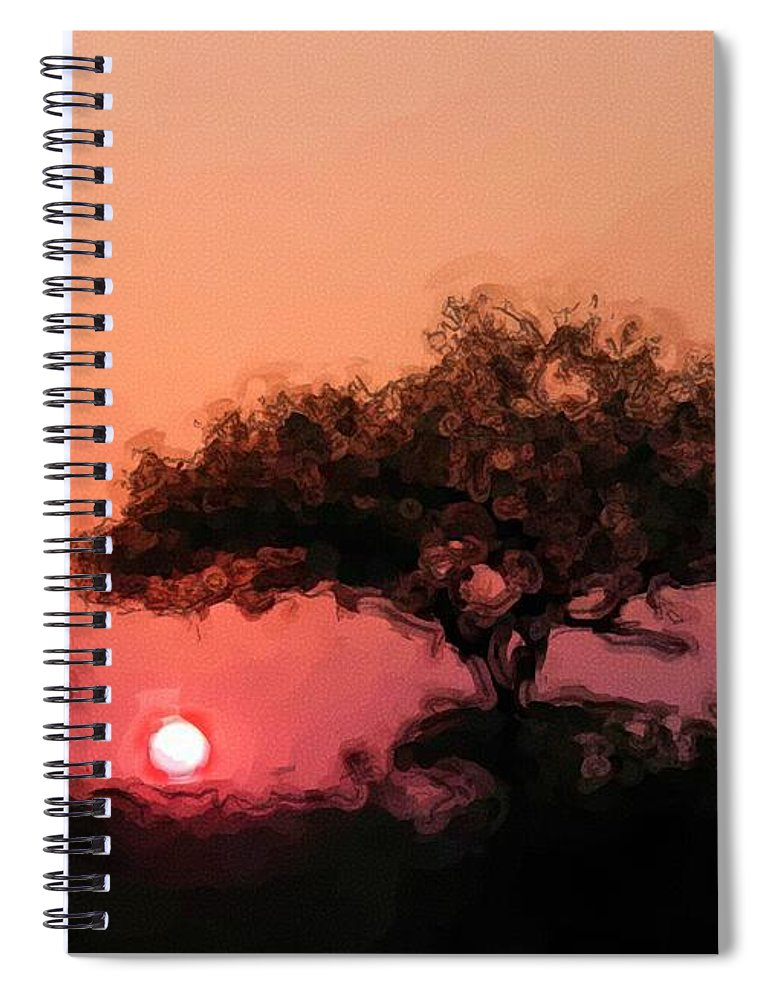 Digital Photography Spiral Notebook featuring the photograph African Sunset by David Lane