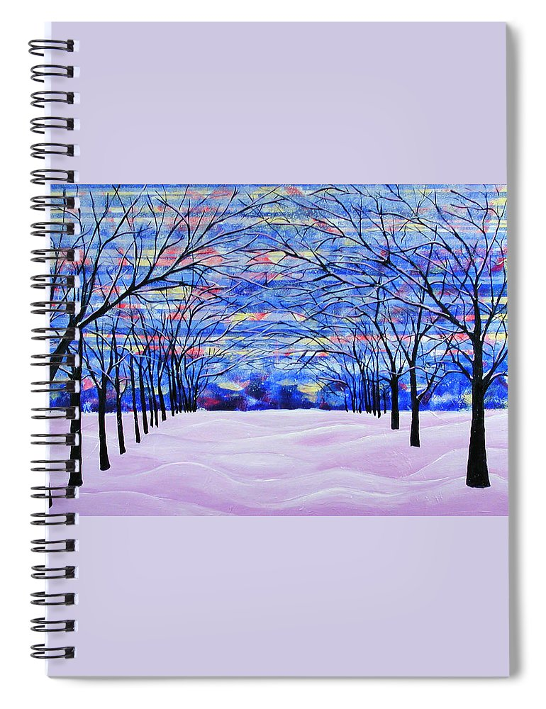 Landscape Spiral Notebook featuring the painting After The Snow by Rollin Kocsis