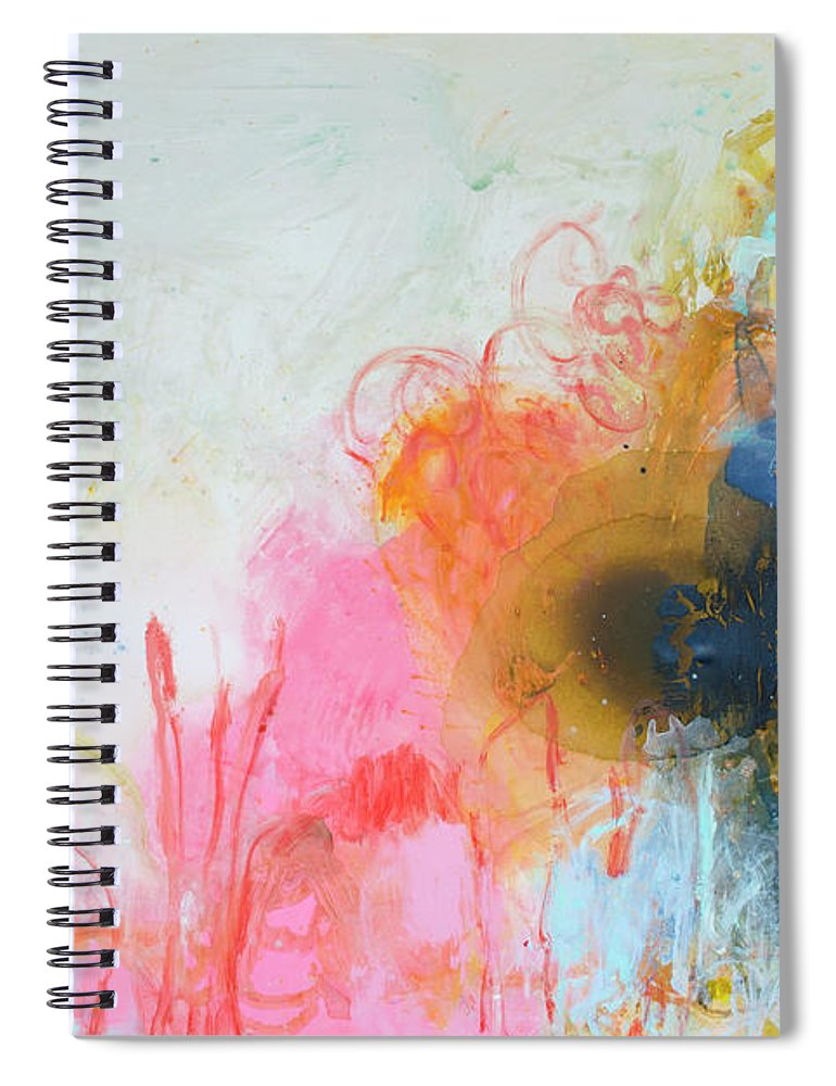 Abstract Spiral Notebook featuring the painting Afternoon Snooze by Claire Desjardins