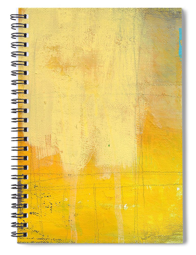 Abstract Spiral Notebook featuring the painting Afternoon Sun -large by Linda Woods