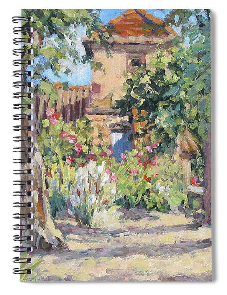 France Spiral Notebook featuring the painting Afternoon Tea by L Diane Johnson