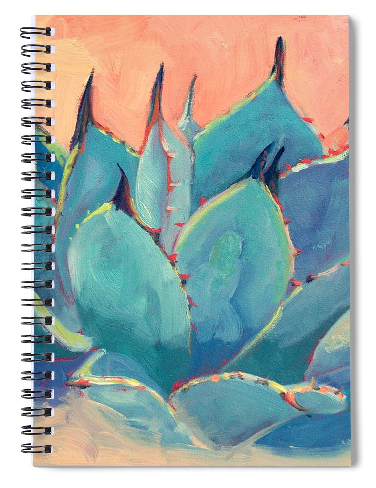 Plant Spiral Notebook featuring the painting Agave 2 by Athena Mantle