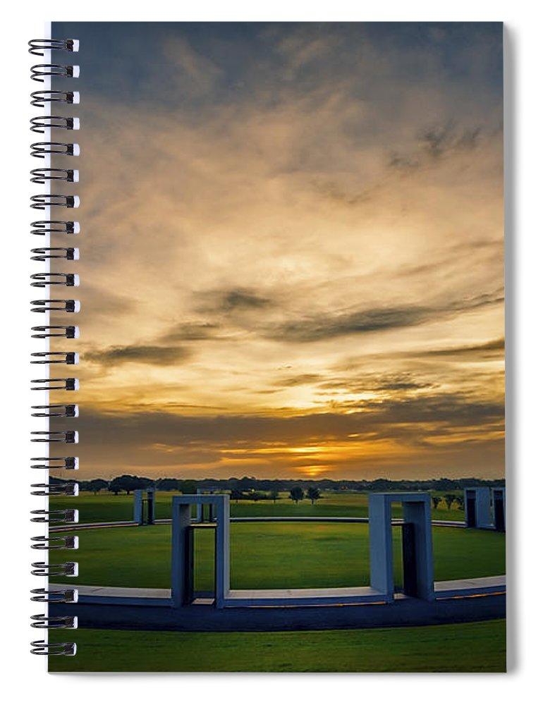 Joan Carroll Spiral Notebook featuring the photograph Aggie Bonfire Memorial by Joan Carroll