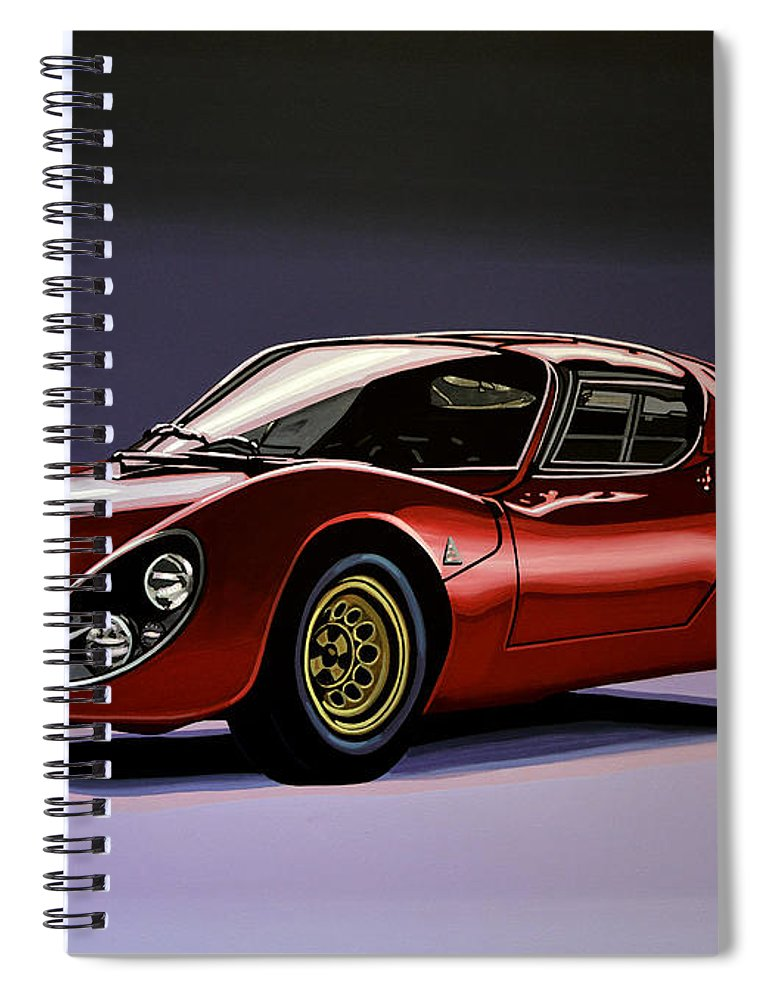 alfa romeo 33 stradale 1967 painting spiral notebook for sale by paul meijering. Black Bedroom Furniture Sets. Home Design Ideas