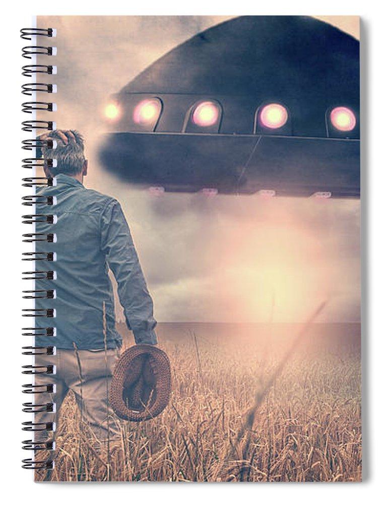Alien Spiral Notebook featuring the photograph Alien Invasion by Edward Fielding