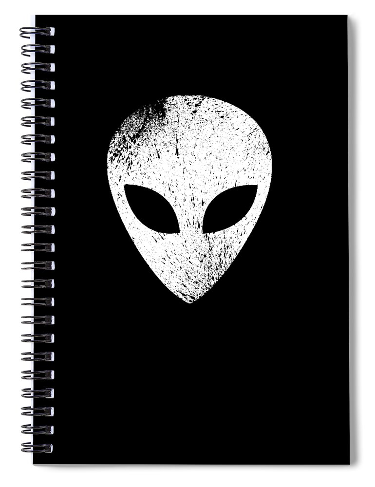 Abduct Spiral Notebook featuring the digital art Alien Ufo Science Gift by Michael S
