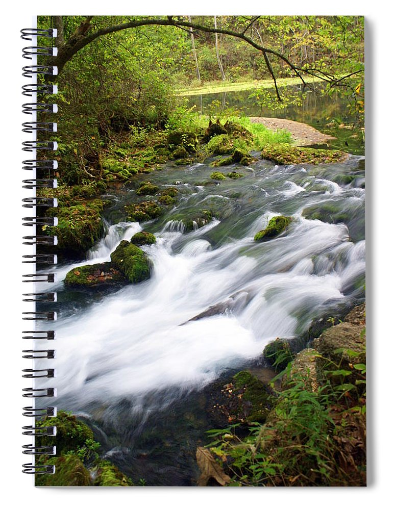 Alley Spring Spiral Notebook featuring the photograph Alley Spring Branch by Marty Koch