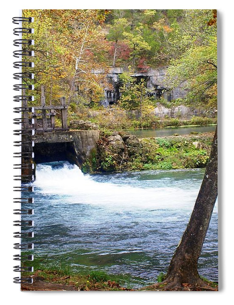 Alley Spring Spiral Notebook featuring the photograph Alley Spring by Marty Koch