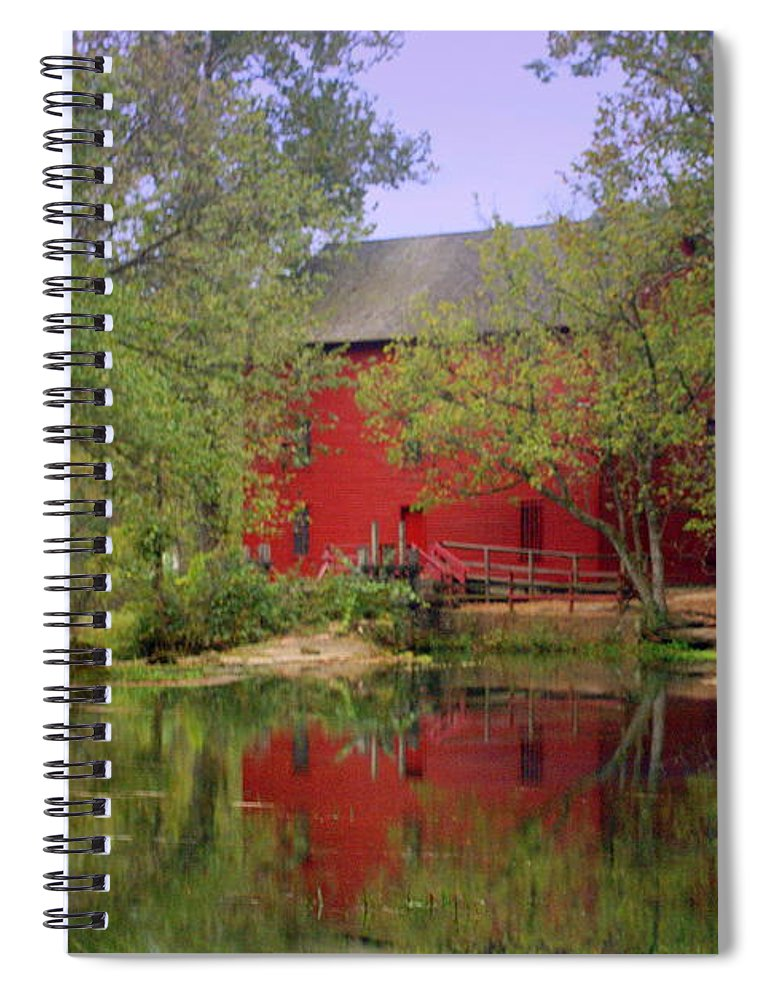 Alley Spring Spiral Notebook featuring the photograph Allsy Sprng Mill 2 by Marty Koch