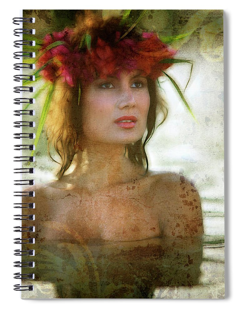 Nag838847t Spiral Notebook featuring the digital art Aloha by Edmund Nagele