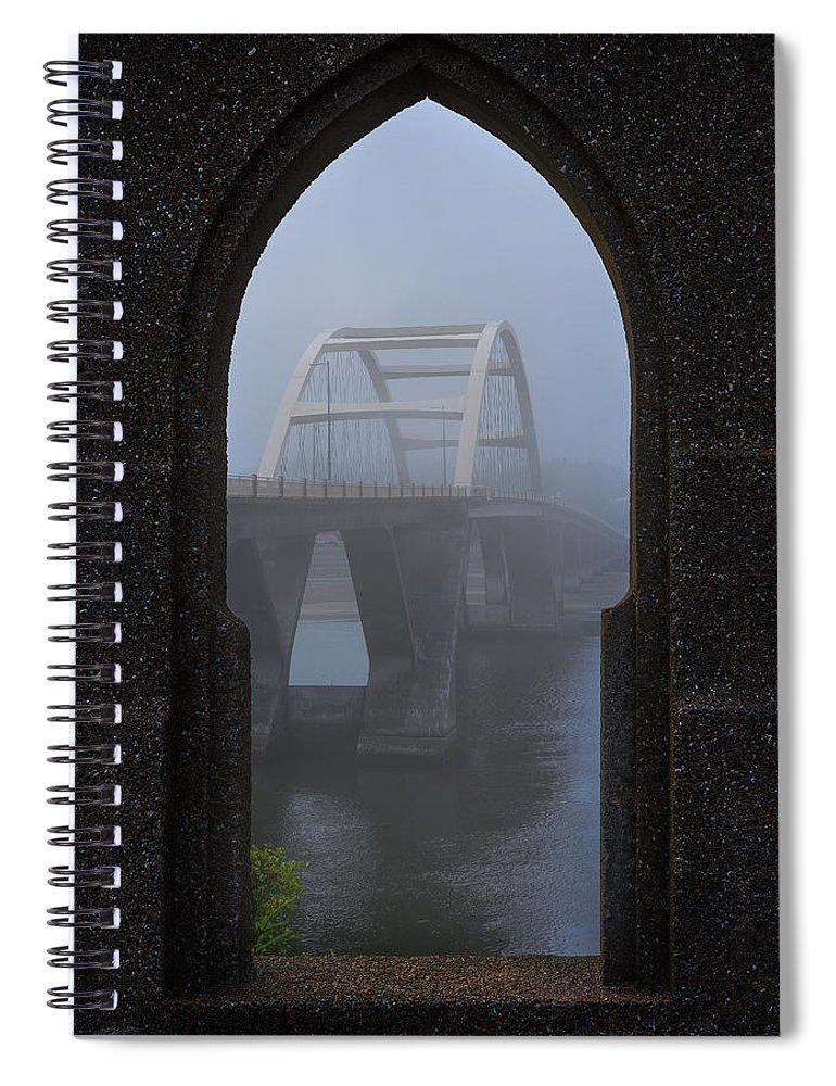 Oregon Spiral Notebook featuring the photograph Alsea Bay Bridge by Darren White