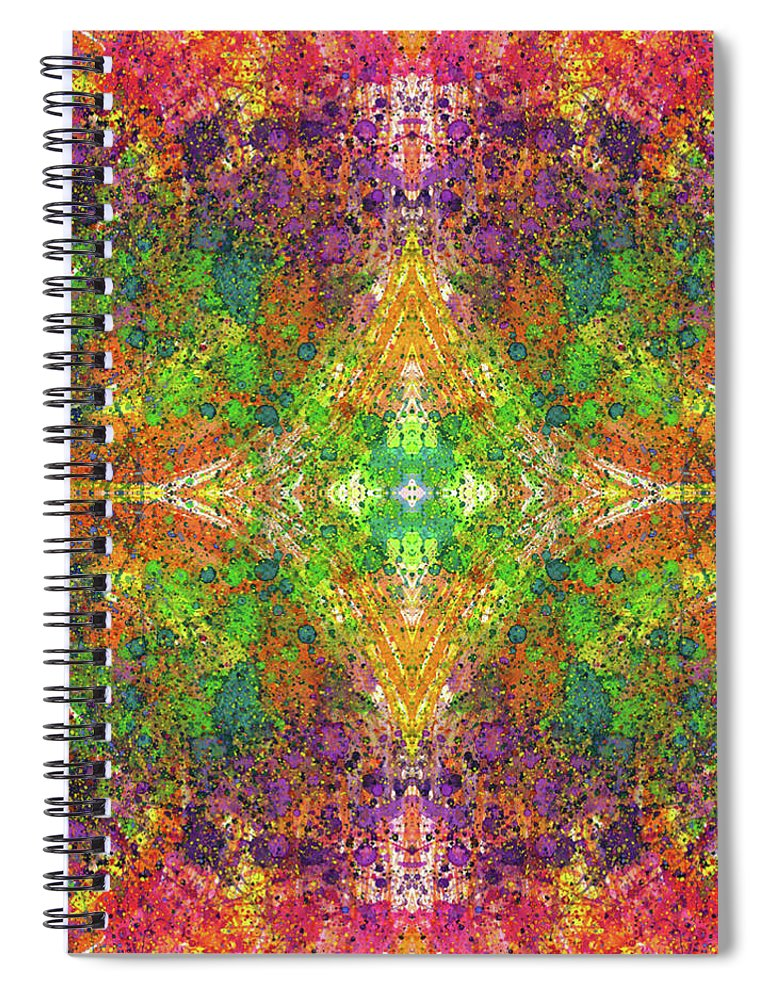 Abstract Spiral Notebook featuring the mixed media Altered States Of Consciousness #1535 by Rainbow Artist Orlando L