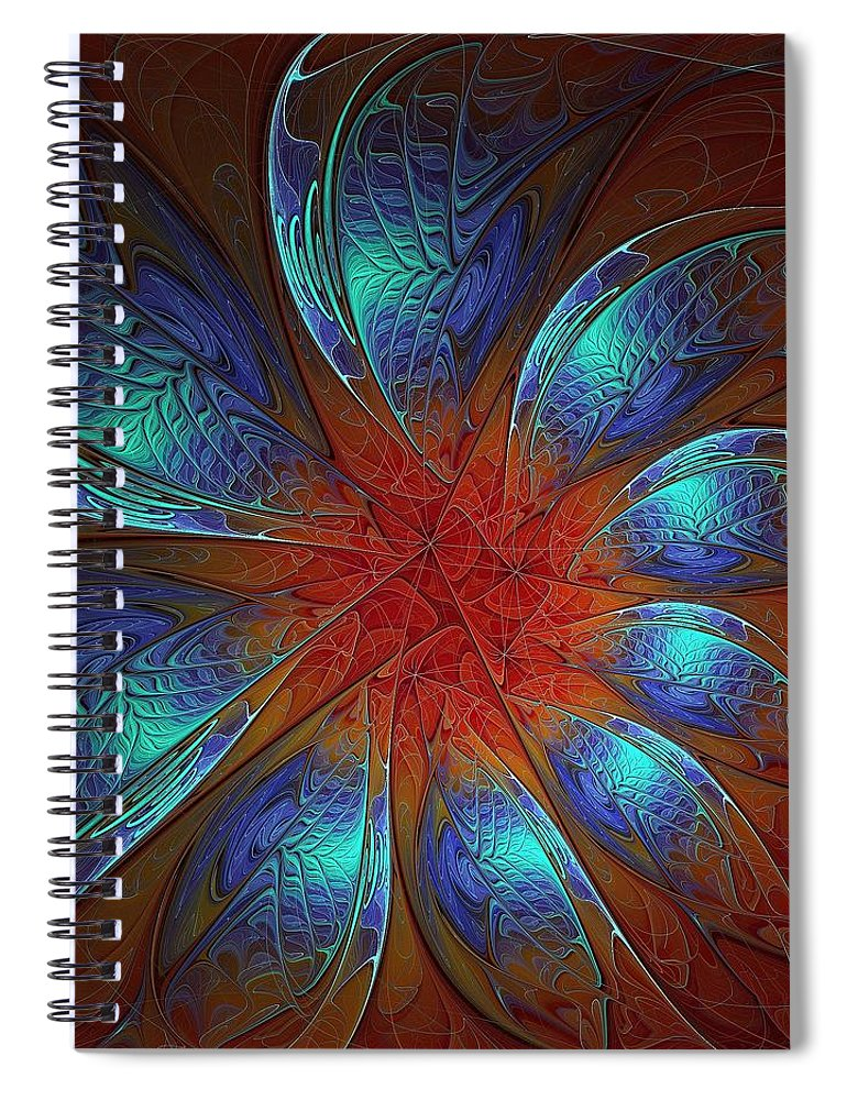 Digital Art Spiral Notebook featuring the digital art Always and Forever by Amanda Moore