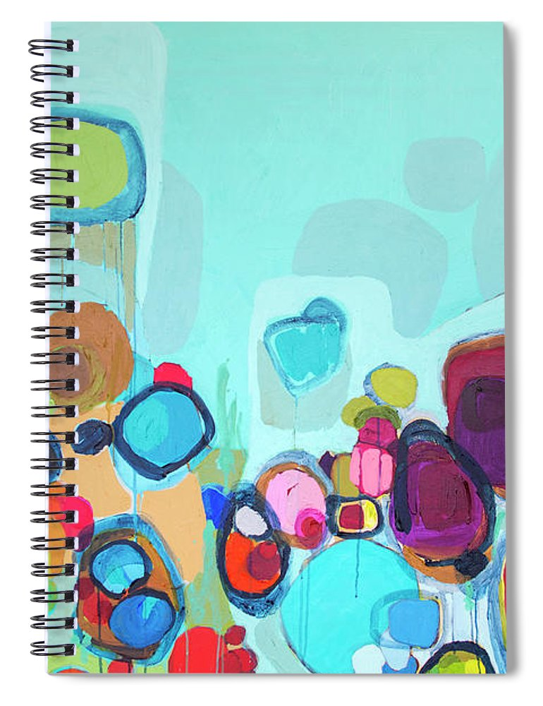 Abstract Spiral Notebook featuring the painting Always Will Be by Claire Desjardins