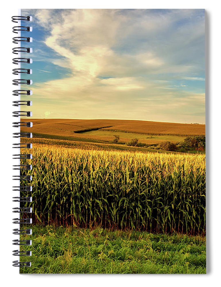 Jones County Spiral Notebook featuring the photograph Amber Waves Of Grain by Mountain Dreams