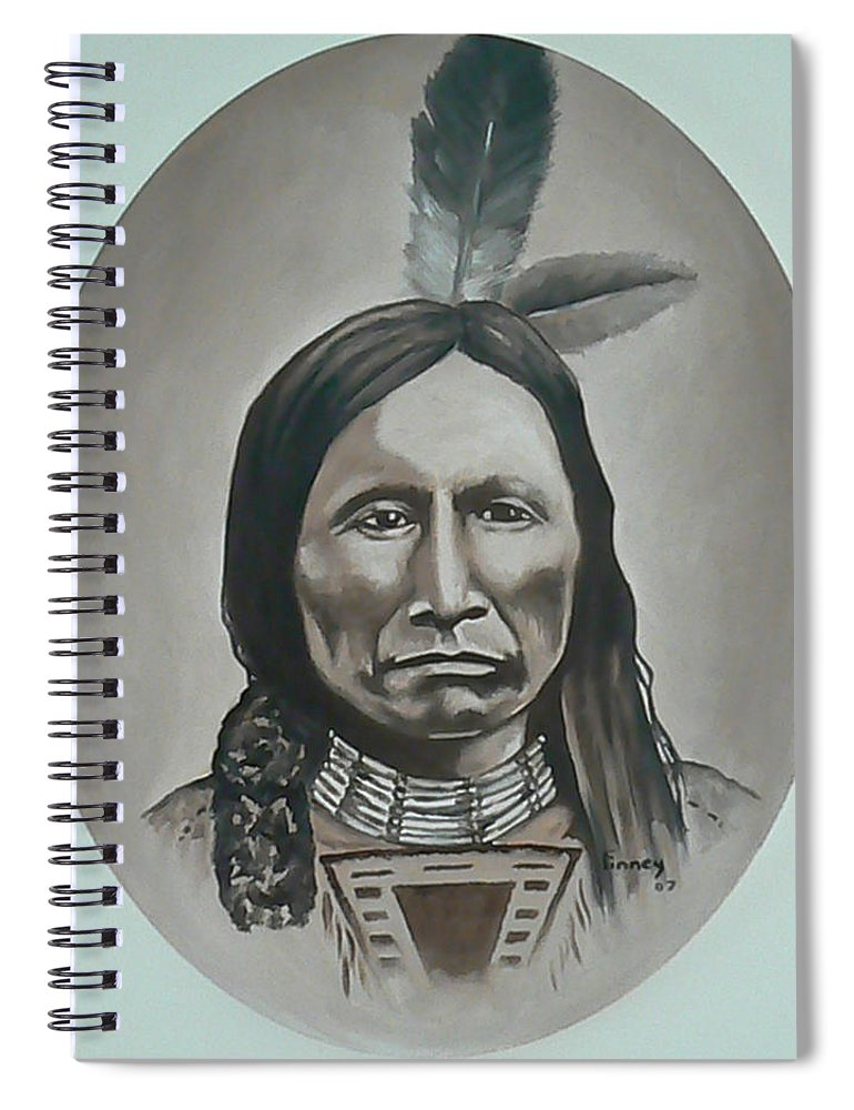 Michael Spiral Notebook featuring the painting American Horse by Michael TMAD Finney