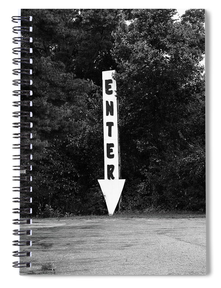 70 Spiral Notebook featuring the photograph American Interstate - Missouri I-70 Bw by Frank Romeo