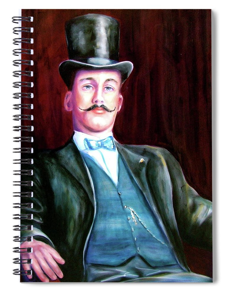 Portrait Spiral Notebook featuring the painting Amos Mckay by Shannon Grissom