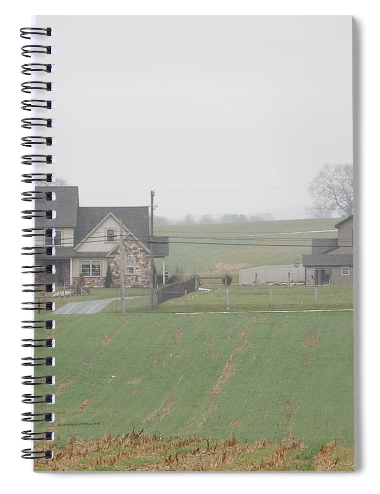 Amish Spiral Notebook featuring the photograph An Amish Family Home by Christine Clark