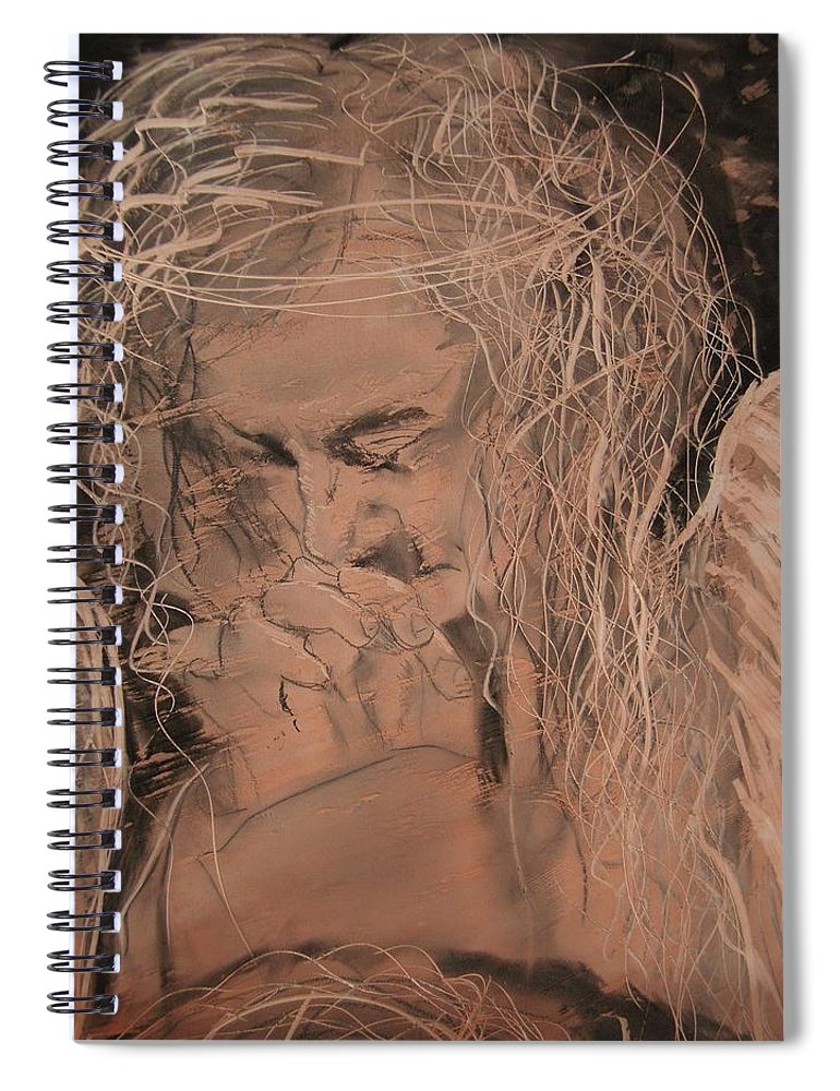 Spiral Notebook featuring the painting Angel 2 by J Bauer
