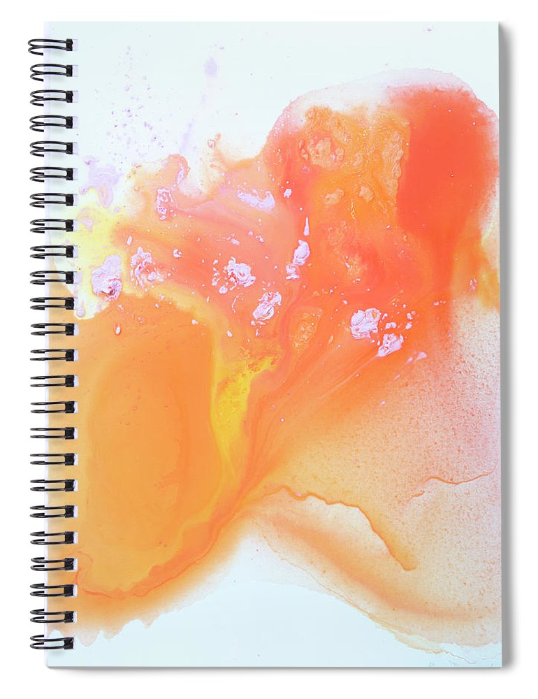 Abstract Spiral Notebook featuring the painting Another Love by Claire Desjardins