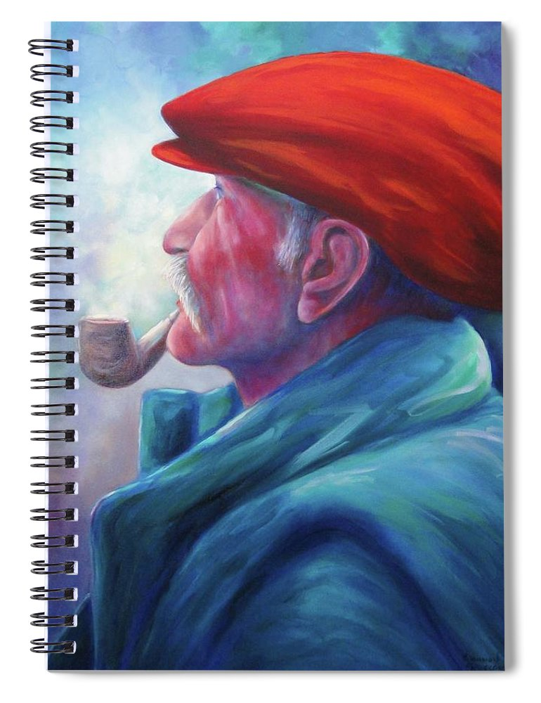Portrait Spiral Notebook featuring the painting Another Side of St. Francis by Shannon Grissom
