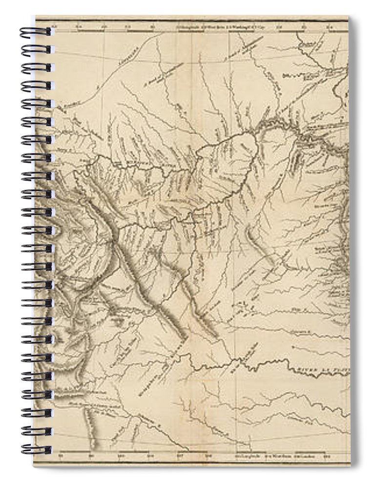 Map Of America Lewis And Clark.Antique Map Lewis And Clark S Track Across North America Spiral