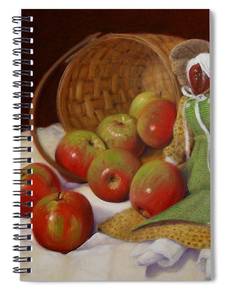 Realism Spiral Notebook featuring the painting Apple Annie by Donelli DiMaria