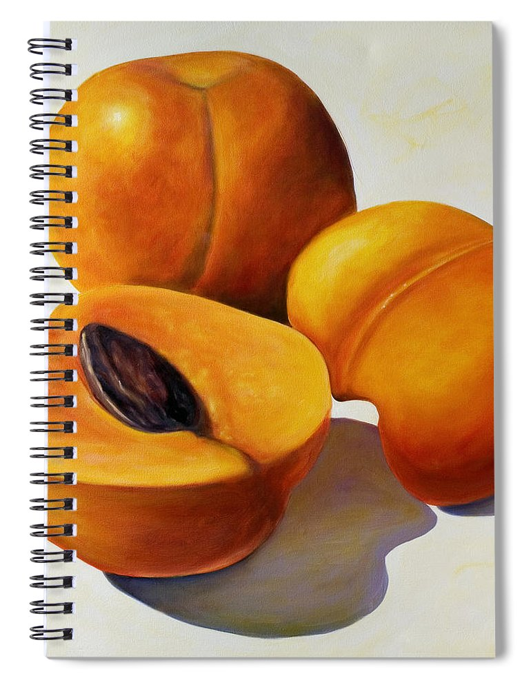 Apricots Spiral Notebook featuring the painting Apricots by Shannon Grissom