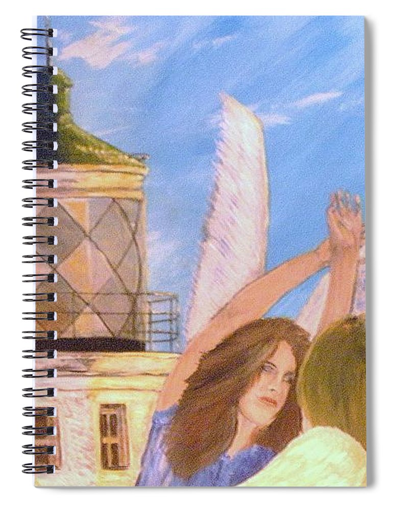Look April Spiral Notebook featuring the painting Aprils flying by J Bauer