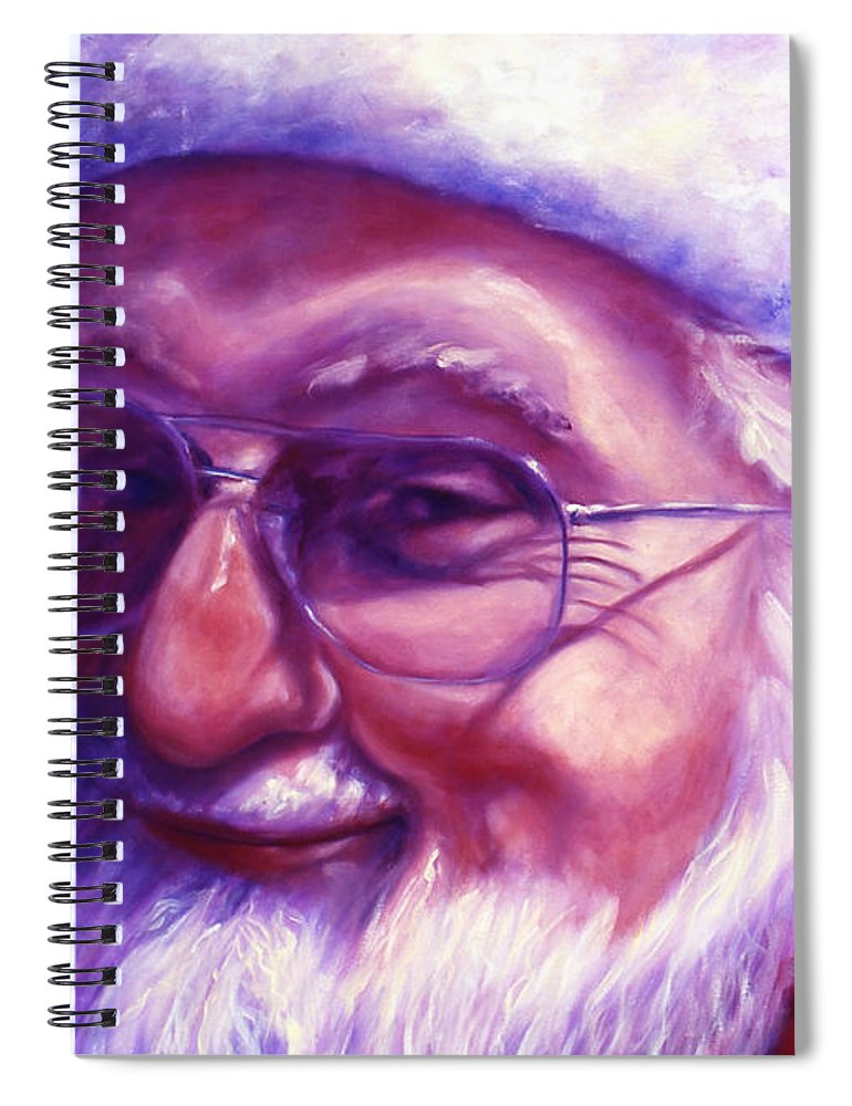 Portrait Spiral Notebook featuring the painting Are You Sure You Have Been Nice by Shannon Grissom