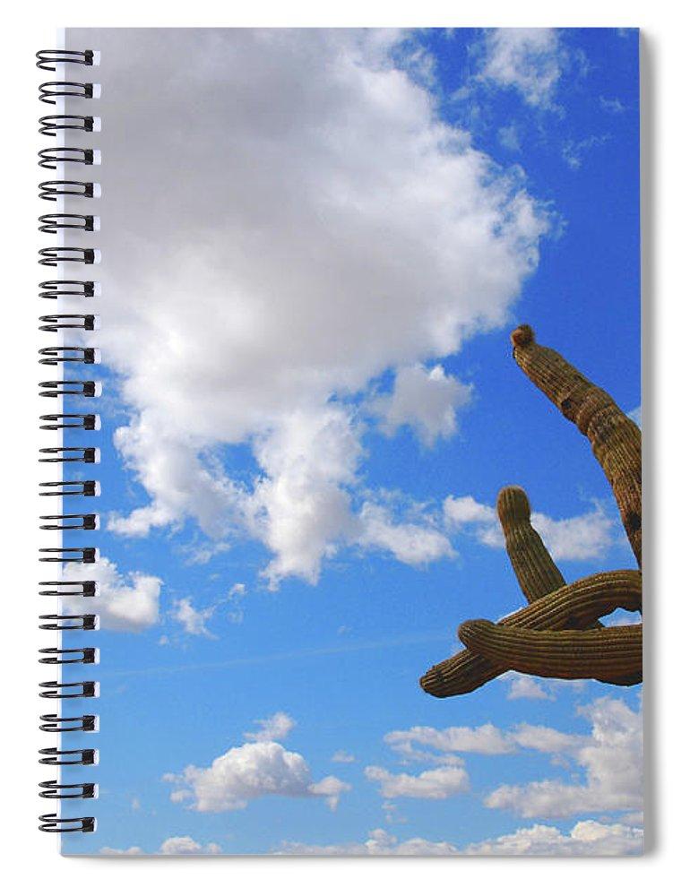 Arizona Spiral Notebook featuring the photograph Arizona Blue Sky by Susanne Van Hulst