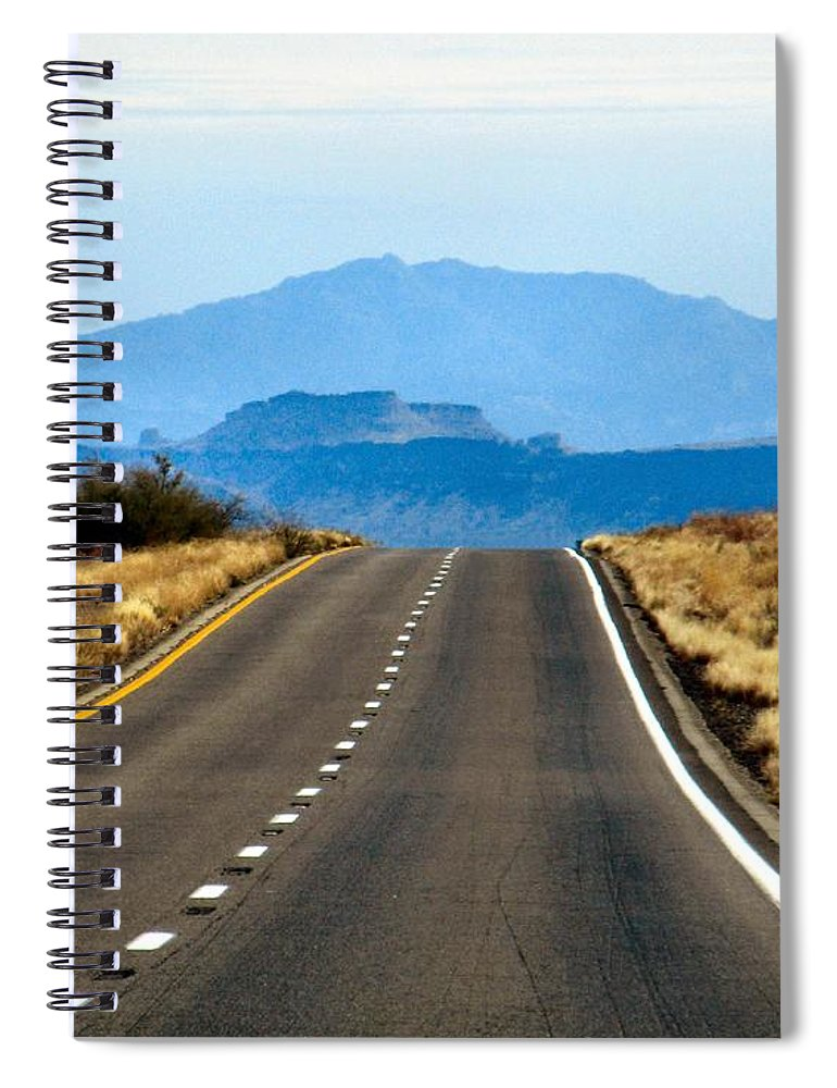 Roads Spiral Notebook featuring the photograph Arizona Highways by A L Sadie Reneau