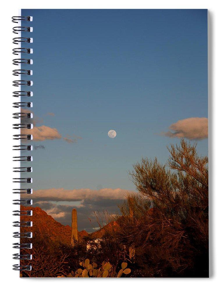 Arizona Spiral Notebook featuring the photograph Arizona Moon II by Susanne Van Hulst