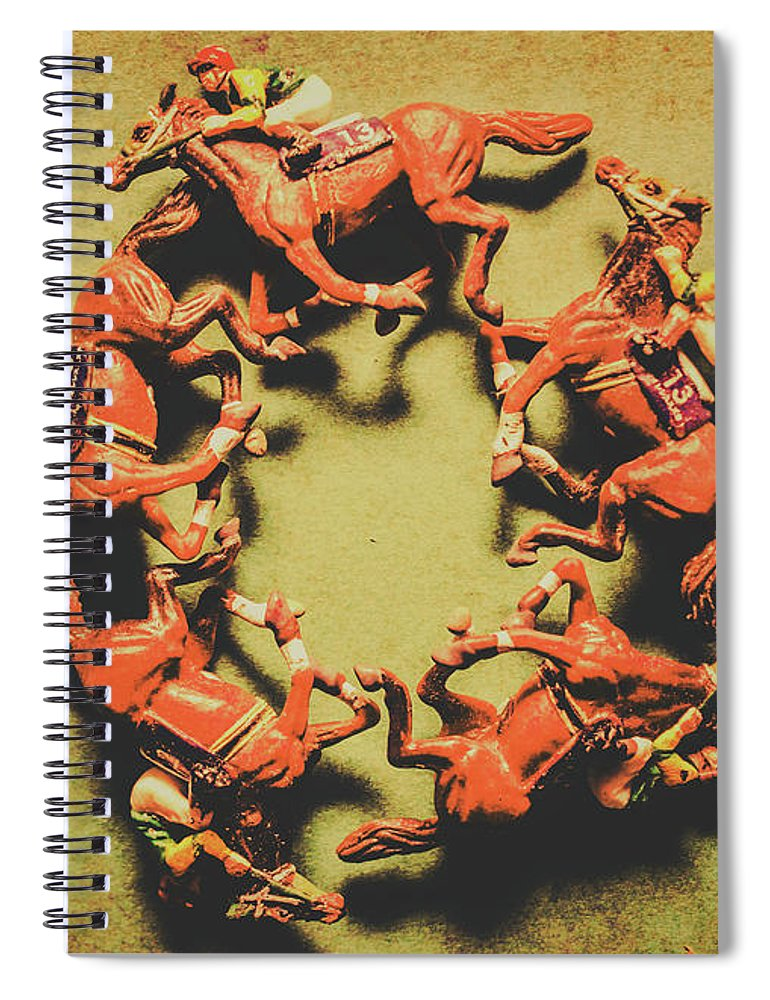 Sports Spiral Notebook featuring the photograph Around The Racetrack by Jorgo Photography - Wall Art Gallery