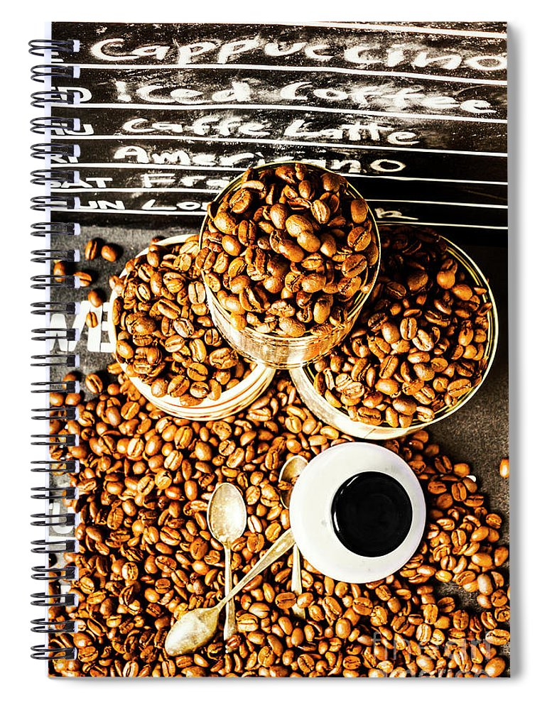 Coffee Spiral Notebook featuring the photograph Art In Commercial Coffee by Jorgo Photography - Wall Art Gallery