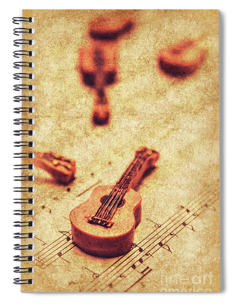 Vintage Spiral Notebook featuring the photograph Art Of Classical Rock by Jorgo Photography - Wall Art Gallery
