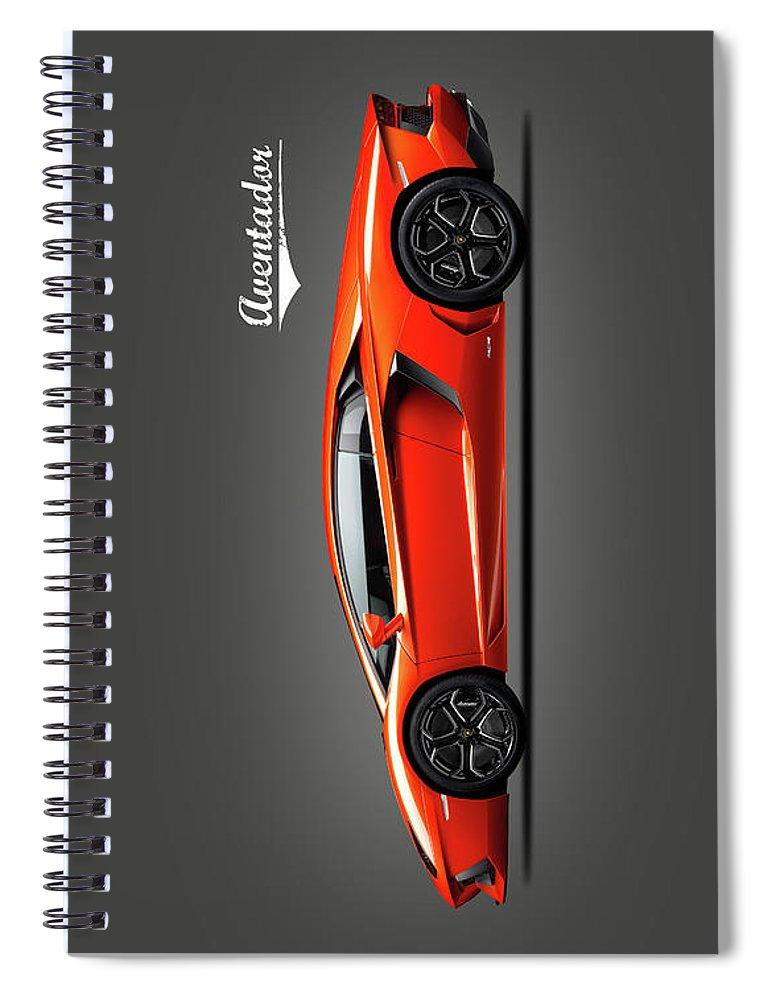 Lamborghini Aventador Spiral Notebook featuring the photograph Lamborghini Aventador by Mark Rogan