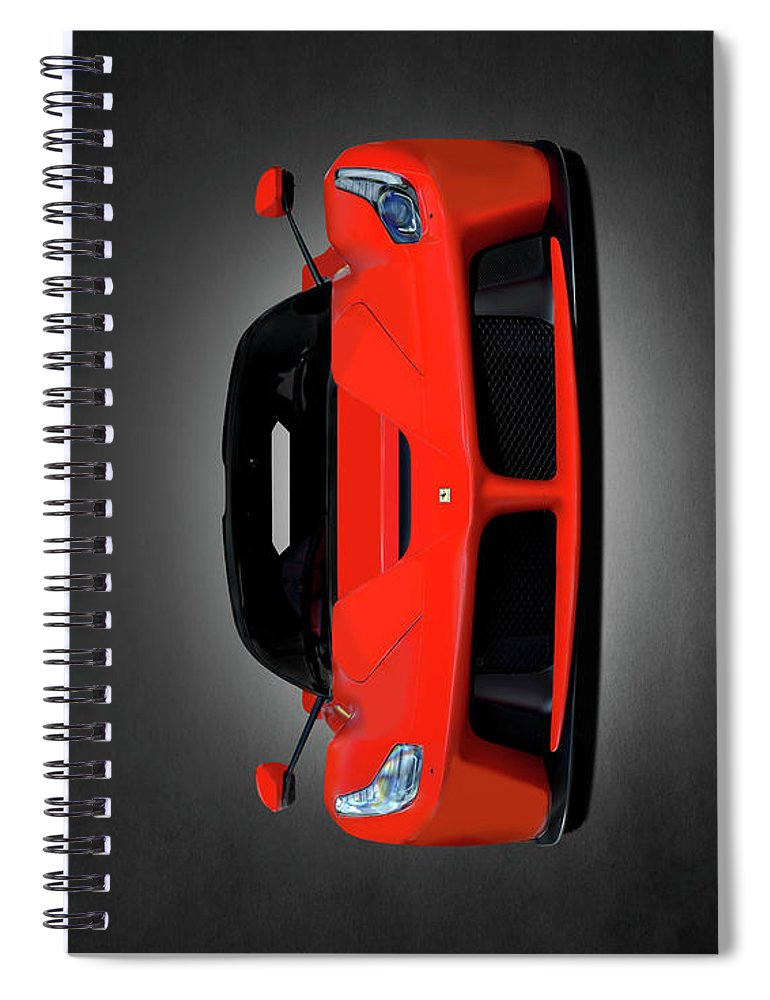 Ferrari Spiral Notebook featuring the photograph The Laferrari by Mark Rogan