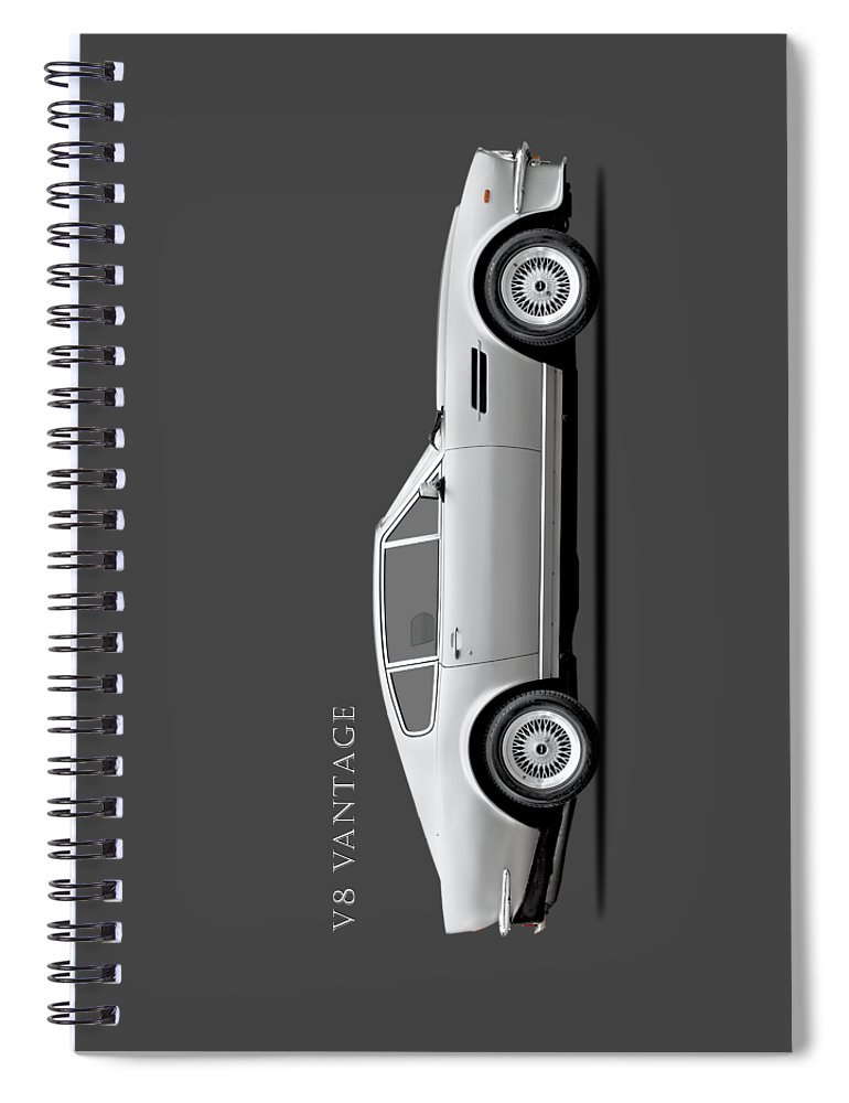 Aston Martin Vantage Spiral Notebook featuring the photograph The Aston V8 Vantage by Mark Rogan