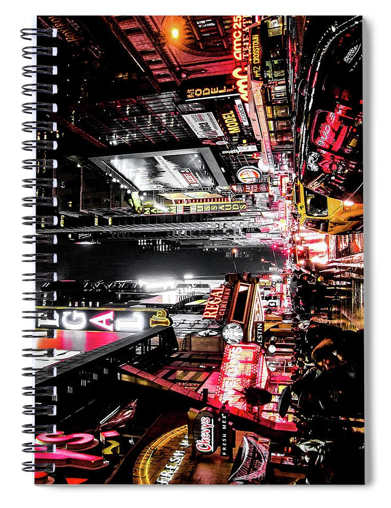 Newyork Spiral Notebook featuring the photograph New York City Night II by Nicklas Gustafsson