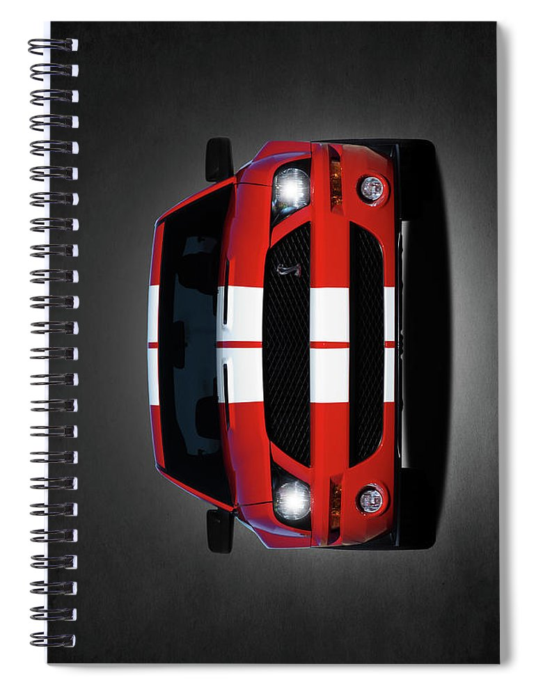 Ford Mustang Shelby Gt500 Spiral Notebook featuring the photograph The Mustang Shelby Gt500 by Mark Rogan