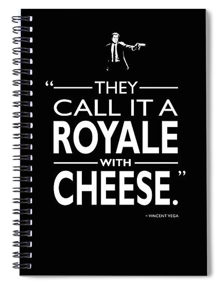 Royale With Cheese Spiral Notebook featuring the photograph A Royale With Cheese by Mark Rogan