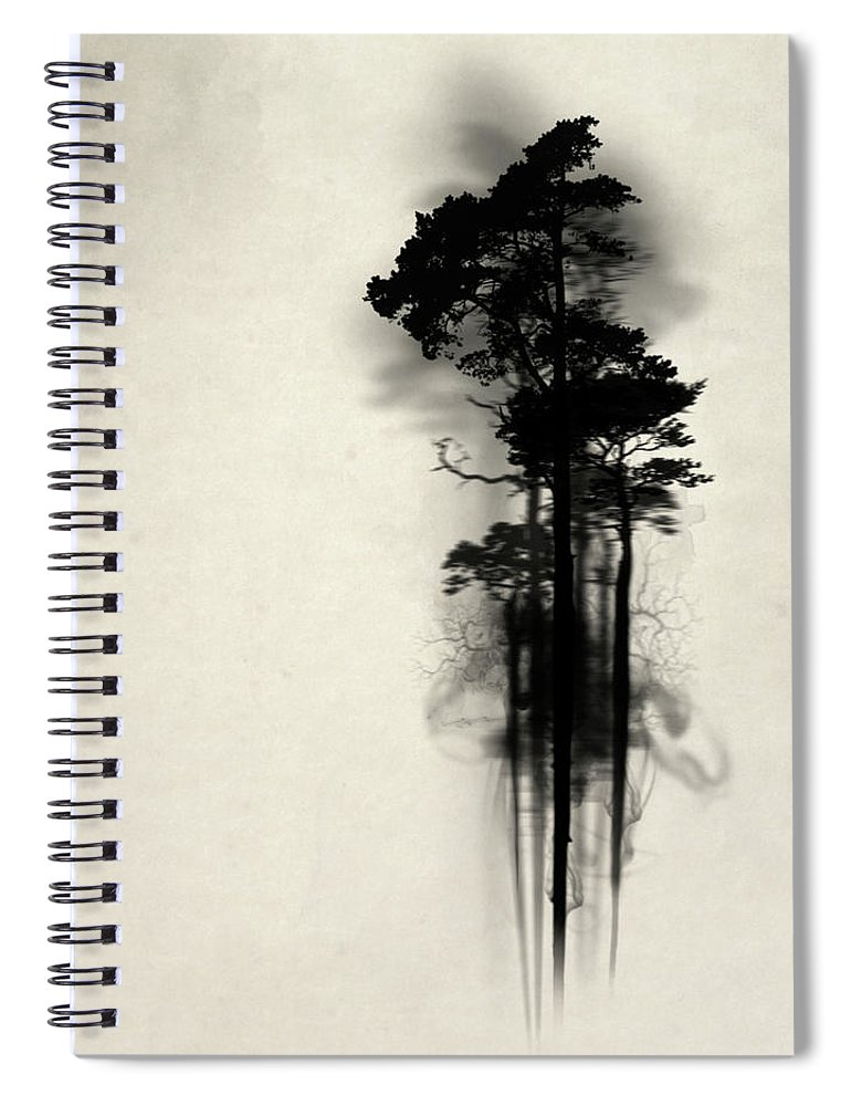 Forest Spiral Notebook featuring the painting Enchanted Forest by Nicklas Gustafsson