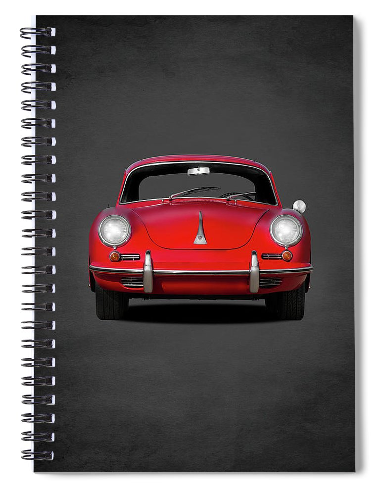 Porsche Spiral Notebook featuring the photograph Porsche 356 by Mark Rogan