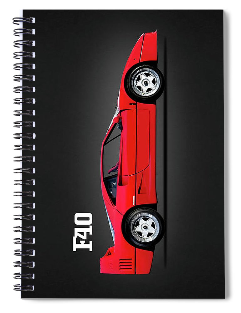 Ferrari F40 Spiral Notebook featuring the photograph Ferrari F40 by Mark Rogan